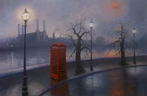 'Battersea Mist' oil on canvas Lee Campbell