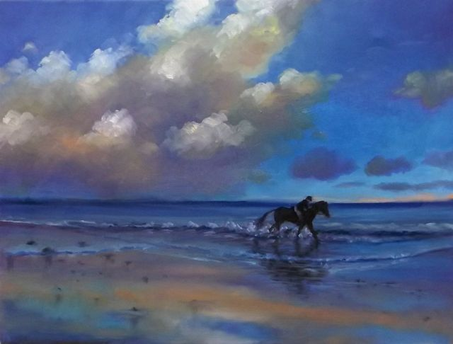 Cloud Racing - oil on canvas Lee Campbell