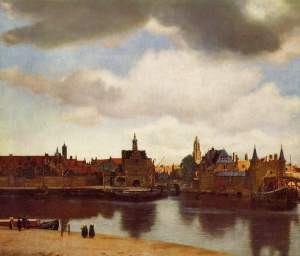 View of Delft - Vermeer