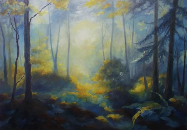 'Limberlost' oil on canvas - Lee Campbell