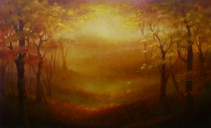 'Autumn Gold' - Lee Campbell oil on canvas