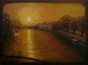 Old Twickenham - oil on canvas - Lee Campbell