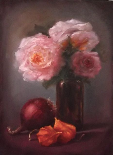 Pink & Gold oil on canvas Lee Campbell