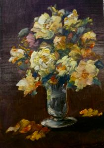 Mini Roses Gold oil on canvas Lee Campbell