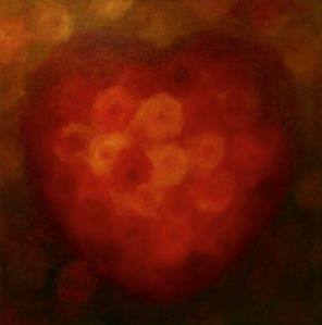 'Gold Heart' oil on canvas Lee Campbell