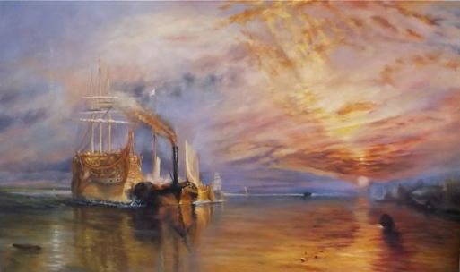 Tribute to Turner - oil on canvas 5' x 3' Lee Campbell