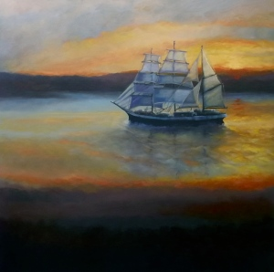 'STS Tenacious' - oil on canvas Lee Campbell
