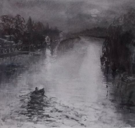 Moon River - Charcoal on paper -Lee Campbell