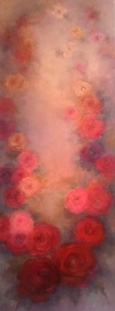 'Rose Antique' Oil on canvas Lee Campbell
