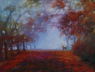 'Autumnal' oil on paper Lee Campbell