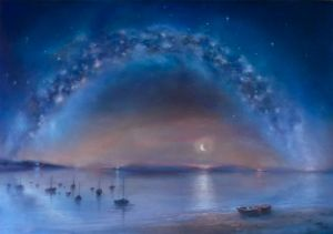 'Celestial' oil on canvas 70cm x 100cm - Lee Campbell