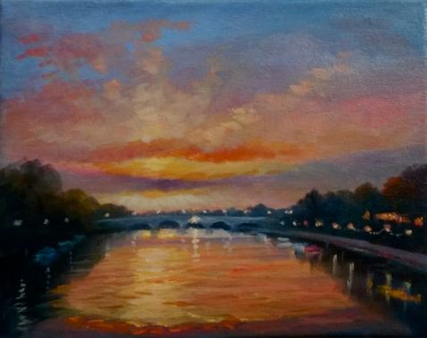 'Richmond Bridge' oil on canvas - Lee Campbell