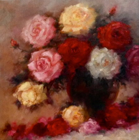 Winter Roses - oil on linen - Lee Campbell