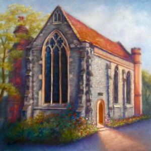 Lovekyn Chapel oil on canvas - Lee Campbell